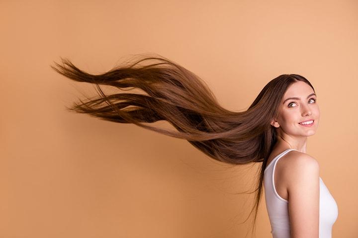 Hårförlängning med 100 g braziliansk äkta hår