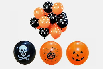 Halloween-ballonger 10-pack