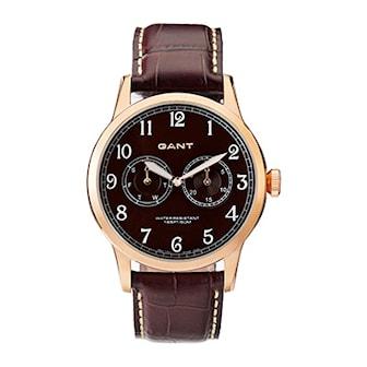 W70325, W70325, Armband: brun, läder. Urtavla: brun, rostfritt stål. Mått: 43 mm,