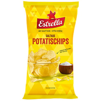 Potatischips Original, Estrella Chips 40g, 27-pcs, Estrella Chips 40g, 27-pack, ,