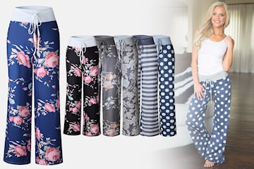 Pyjamasbyxor med mönster
