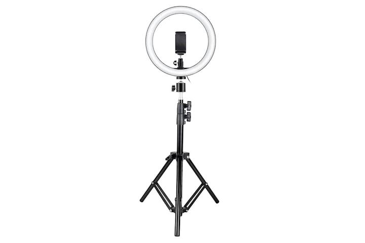 Selfie-lampe / Ring light (26 cm) og stativ