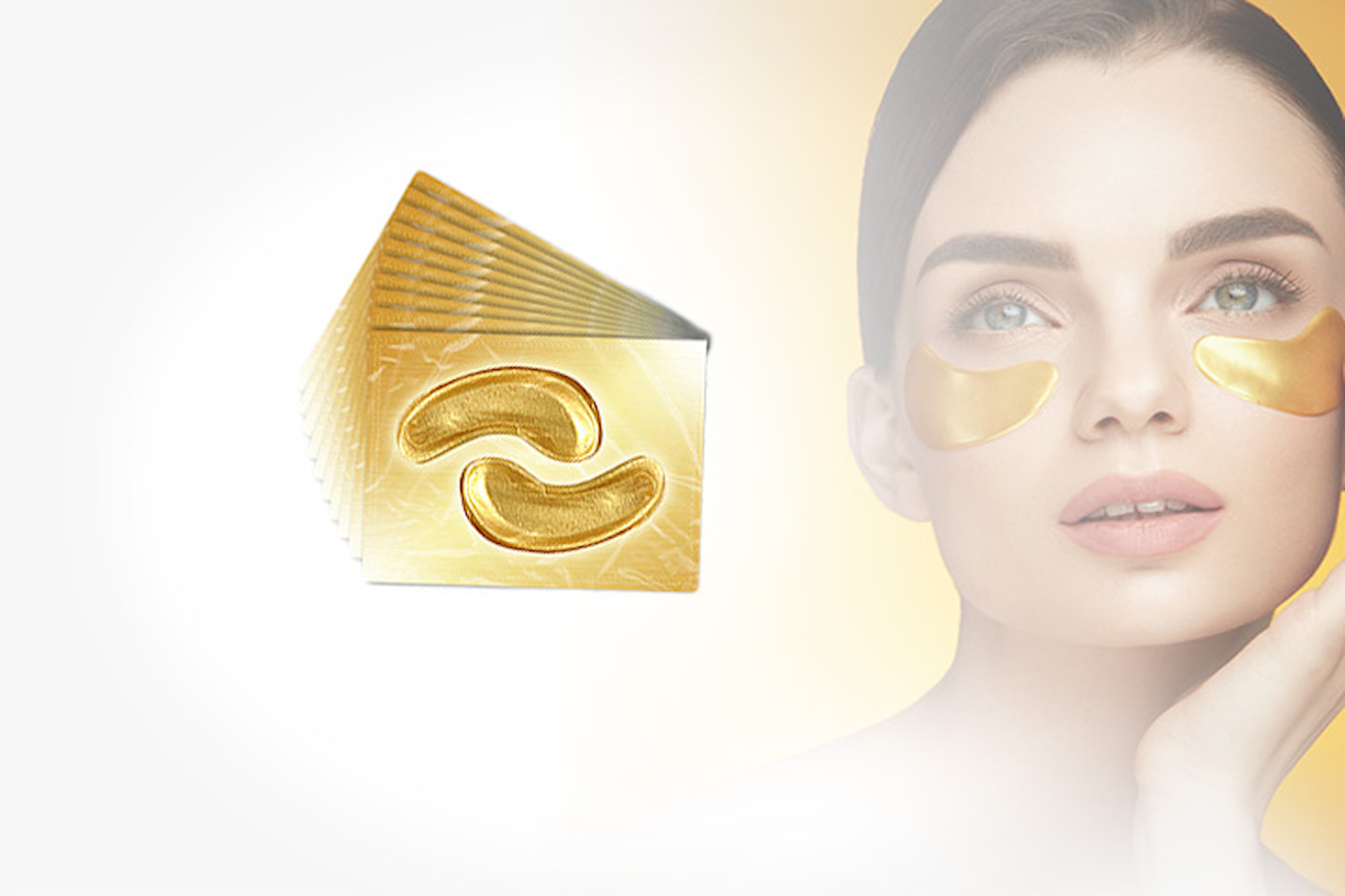 Crystal Gold Collagen Eye Masks, 40-80-pack