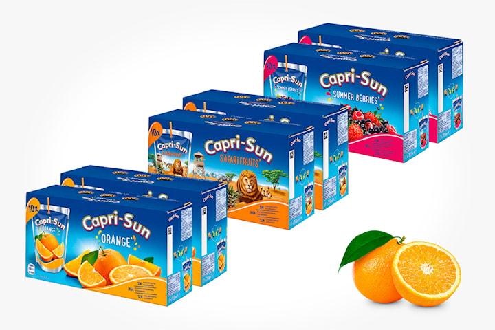 80 stk. Capri-Sun Orange, Safari Fruit eller Summer Berries