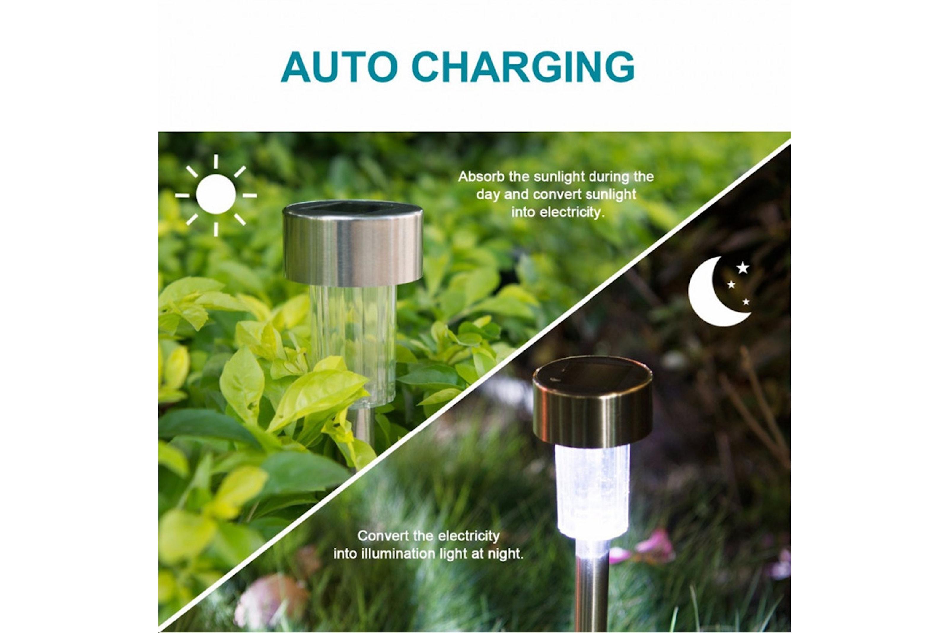 10-pack LED-lyktor med solpanel