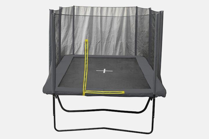 Trampoline rektangulær med sikkerhetsnett