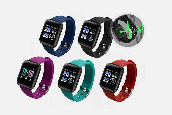 116 Plus smart watch med blodtrycksmätare