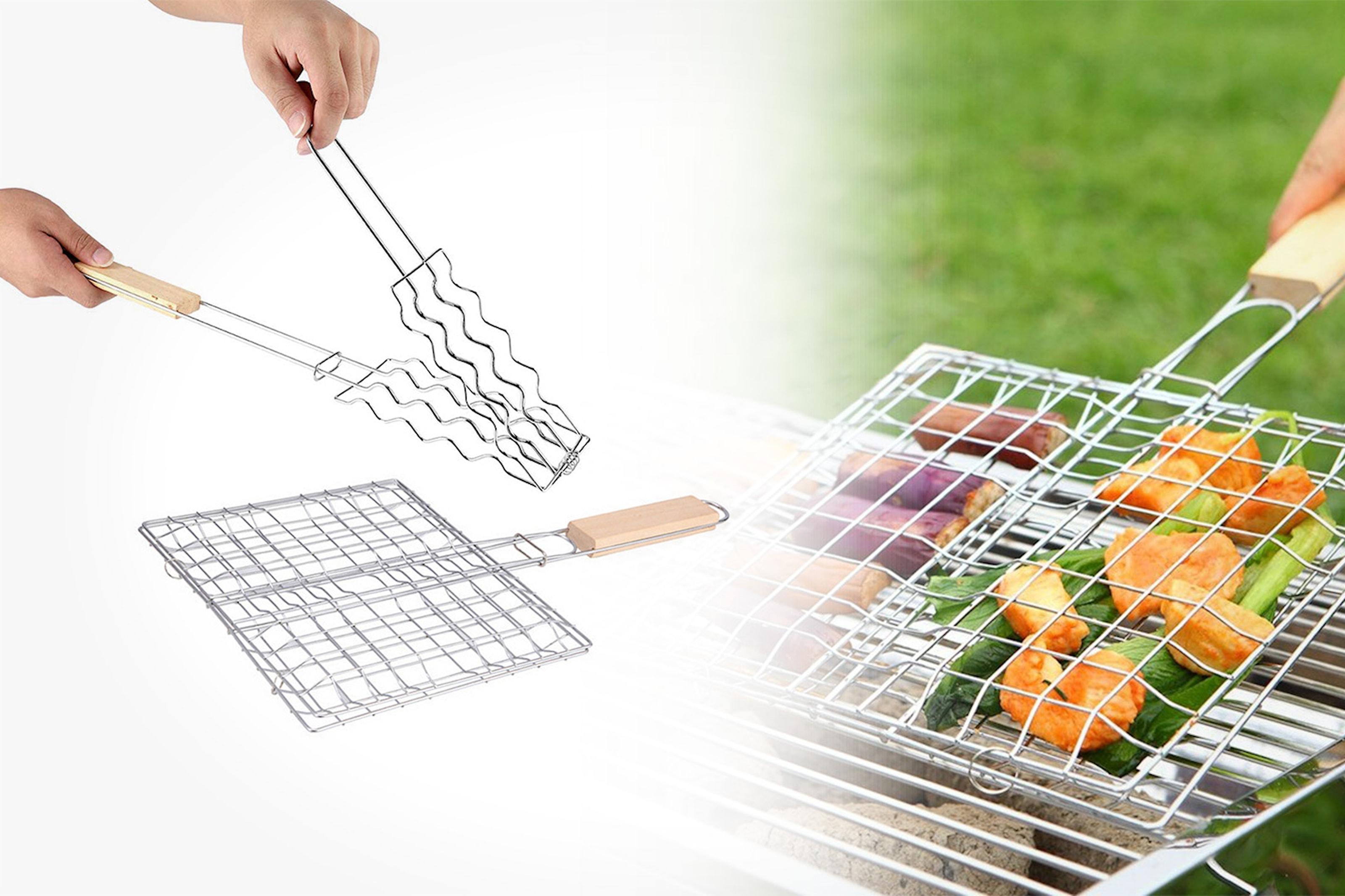 Grillkorg för kött, grönsaker och fisk