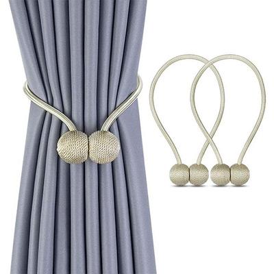 Beige, 2 Pack Magnetic Ball Curtain Tiebacks, Magnetisk gardinbånd 2-pack, ,  (1 av 1)