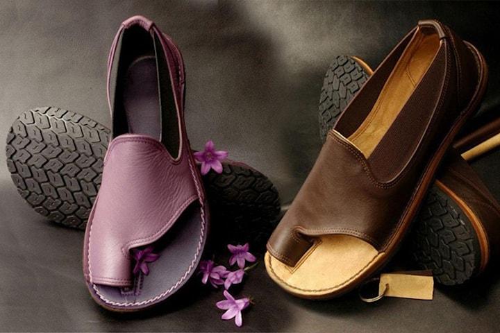 Sandaler med öppen tå