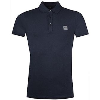 Marineblå, M, Hugo Boss Poly, Hugo Boss pikéskjorte, ,