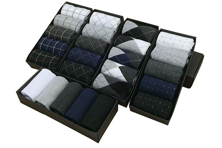Sokker med mønster 5, 10, 15 eller 20-pack