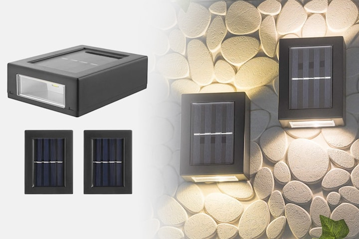 LED-solcellslampa 2-pack