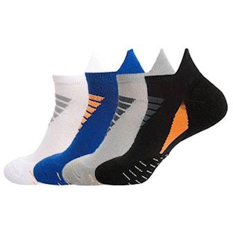Svart, Blå, Grå, Hvit, 4 Pair Sport Socks, Sportsokker, 4 par, ,
