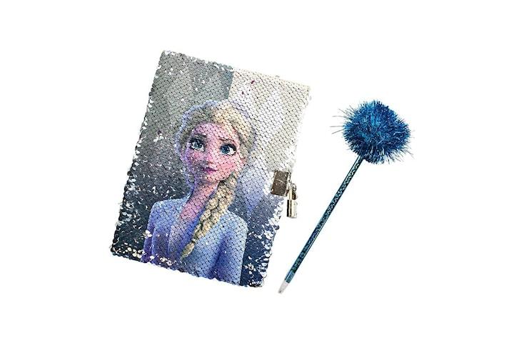 Frozen 2 / Frost 2, Dagbok med Penna - Paljetter