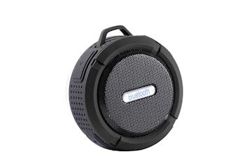 Vattentät Bluetooth Högtalare med Sugpropp - Svart