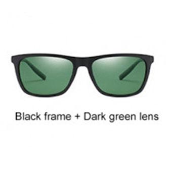 Black Frame + Dark Green Lens, Polarized UV400 Sunglasses, Polariserande solglasögon, ,