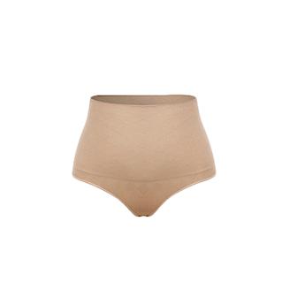 Beige, L/XL, 1 pcs, 1-pack, Formande stringtrosa med hög midja,
