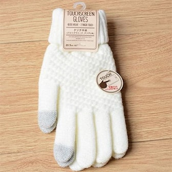 White/Grey, Winter Touch Screen Gloves, Touch screen-vantar, ,