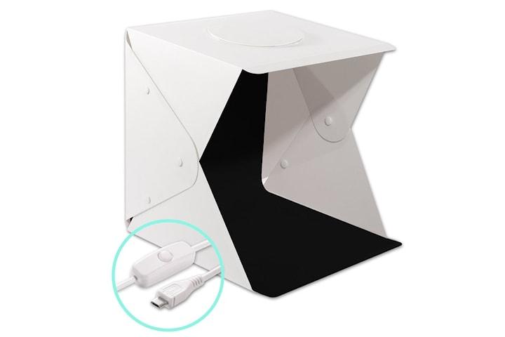 Portabelt Fotostudio med USB-drevet LED Belysning