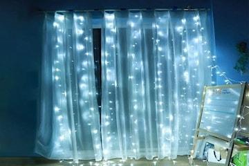 Ljusslinga till gardin
