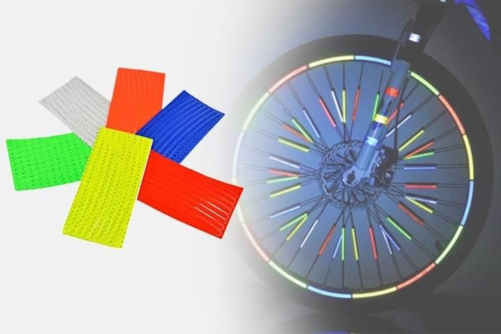 Reflexklistermärken för cykel 5-pack