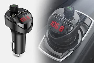 Billader med Bluetooth og FM-sender