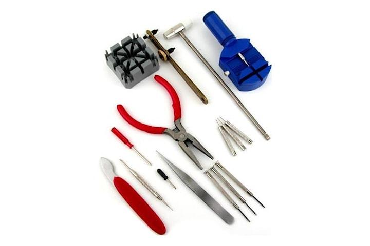 Reparationskit för klockor med 16st verktyg