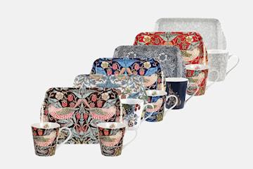 William Morris & Co mugg- och brickset