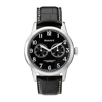 W70321, W70321, Armband: svart, läder. Urtavla: svart, rostfritt stål. Mått: 43 mm,