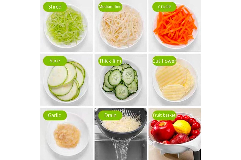 Grønnsakskutter med sil