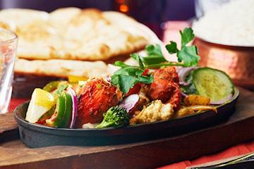 Trerätters middag inkl. cava på Restaurang Saffran