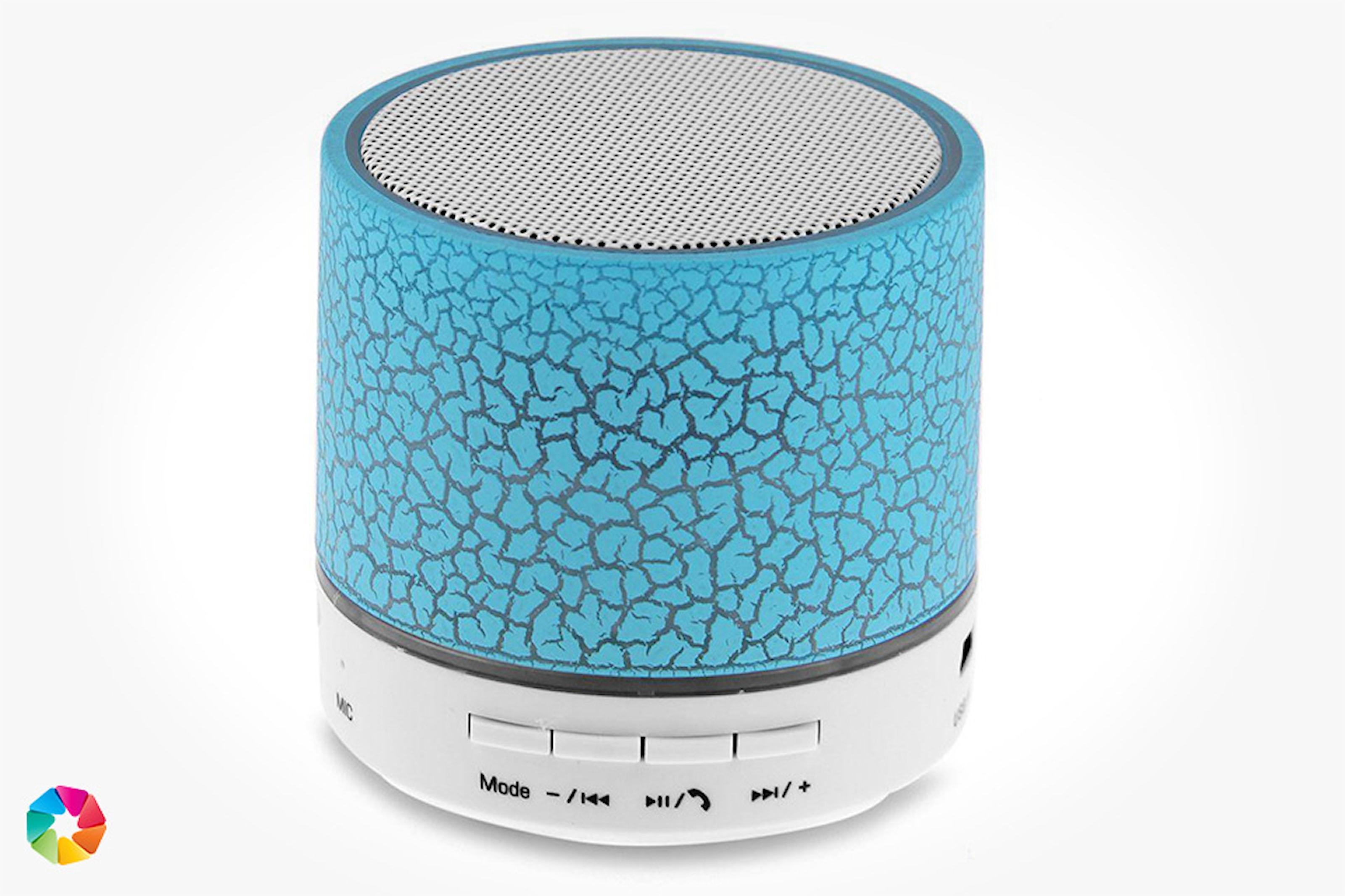 Trådløs Bluetooth-høyttaler med LED-lys