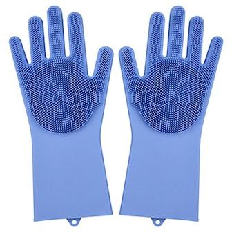 Blå, Magic Washing Gloves, Magiske vaskehansker, ,