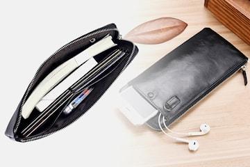 Lommebok med mobillomme