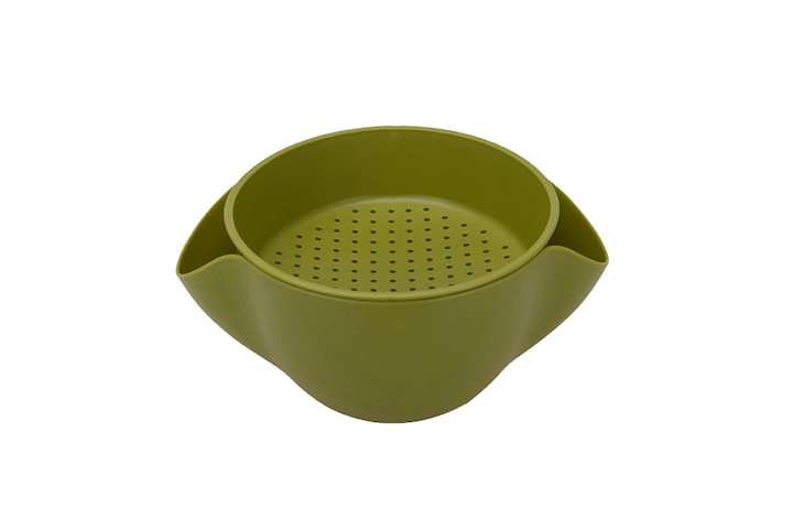 Skål / Durkslag Kombination - Grön, L
