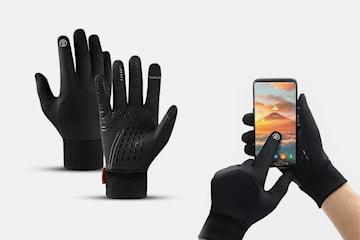 Vanntette og fôrede hansker med touch screen