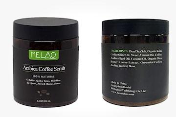 Melao Arabica Coffe kropps- og ansiktsskrubb, 250 ml
