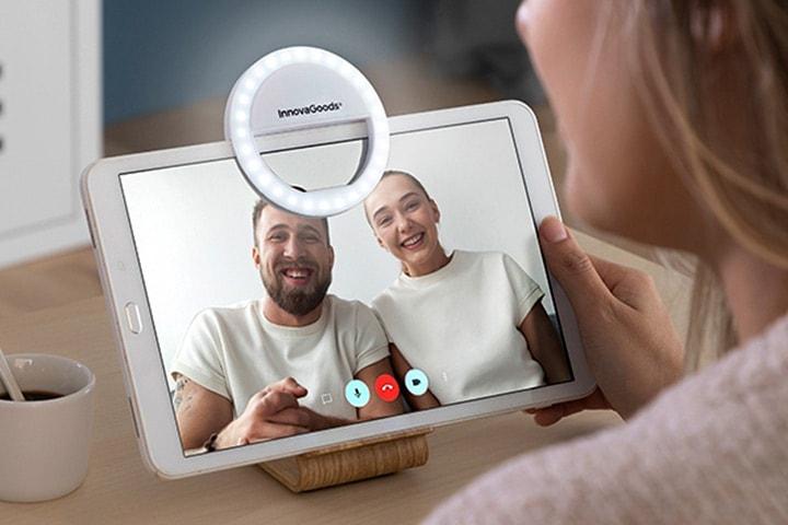 Selfie-lampe for mobil og nettbrett