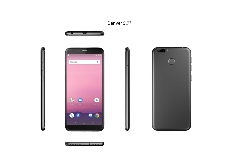 """Denver 5.7"""" eller 5.5"""" 4G smartphone"""