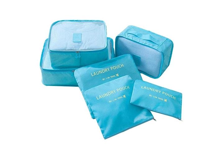 Resekit, Organisering, 6 väskor, Blå