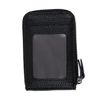 Svart, Leather Wallet, Lommebok i skinn, ,