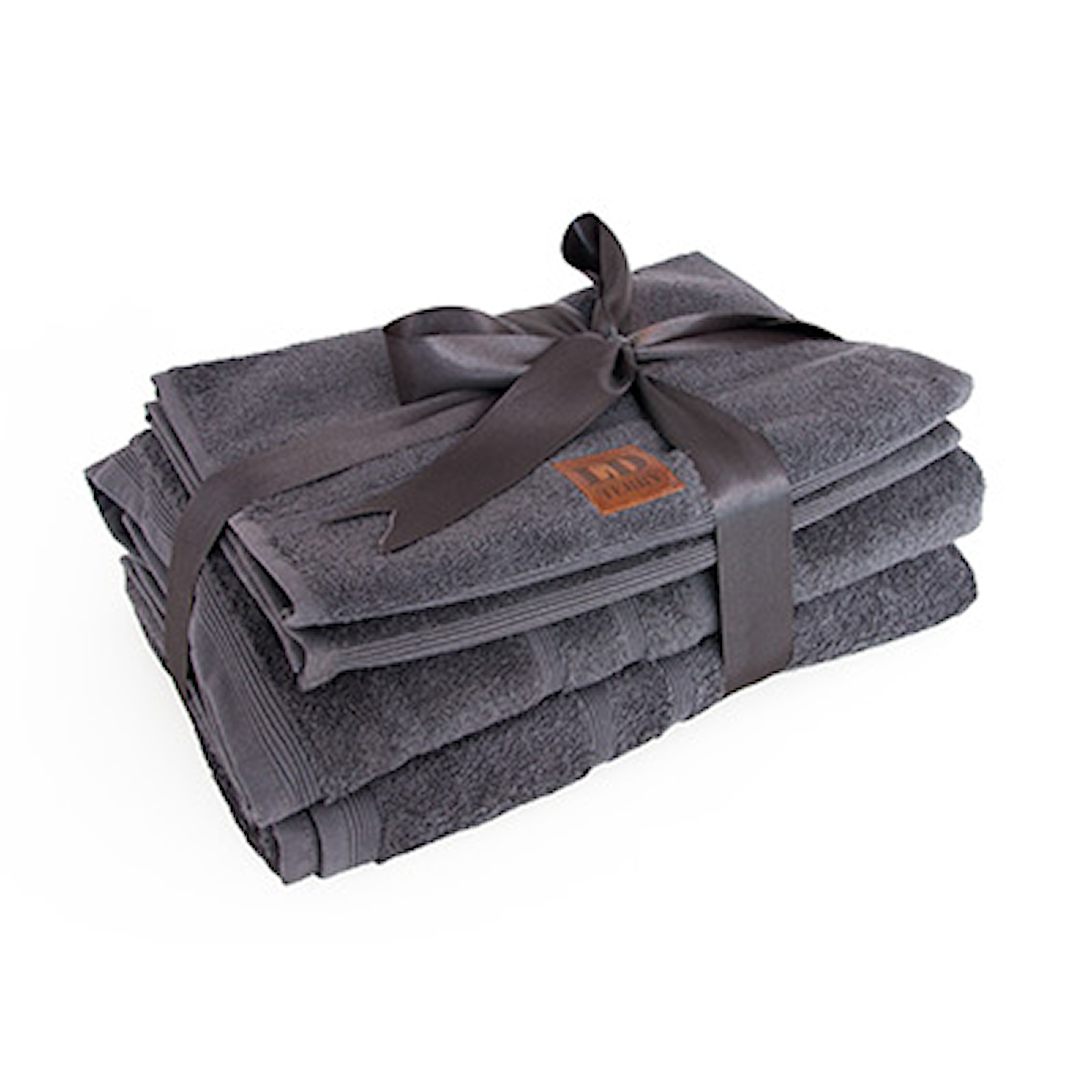 Anthracit, LD Terry Towel set with label, Handduksset från LD Terry, ,
