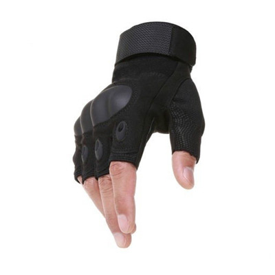Svart, Knuckle Half Finger Gloves, Fingerløse hansker, ,  (1 av 1)