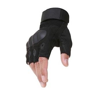 Svart, Knuckle Half Finger Gloves, Fingerløse hansker, ,