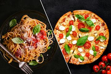 Valgfri autentisk italiensk pizza eller pasta for opp til fire personer hos Perugina Pizzeria på Torshov