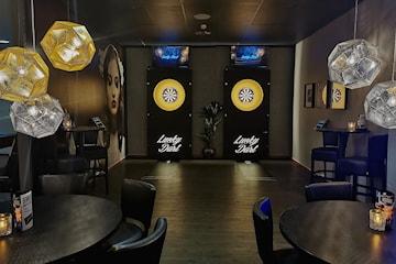 Èn time dart med burger eller milkshake hos Lucky Bowl Kristiansand