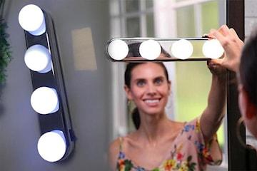Makeup LED-lys til å feste på speil 1- eller 2-pack
