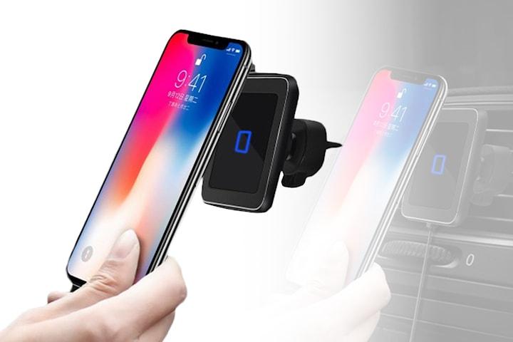 Magnetisk QI-laddare och mobilhållare