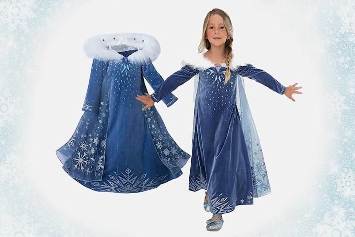 Blå prinsessklänning